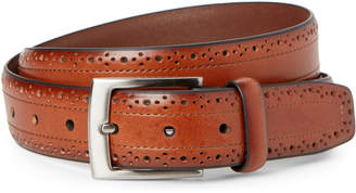 Trafalgar Cognac Leather Brogue Belt