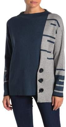 Nic+Zoe Colorblock Toggle Grommet Sweater (Petite)