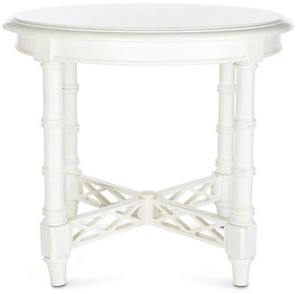 """Tommy Bahama Edgehill 28"""" Round Side Table - White"""