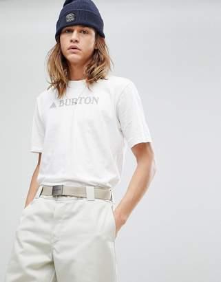 Burton Snowboards Horizontal Logo T-Shirt in White