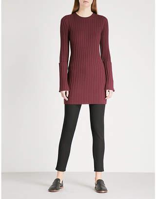 Joseph Zipped-detail wool-blend dress