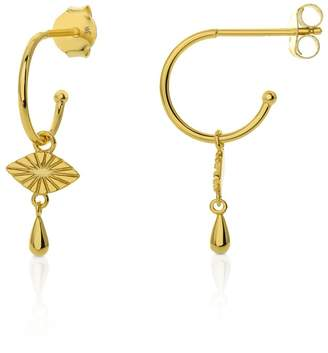 695e21a89 John Greed Neith Gold Plated Silver Eye Hoop Earrings