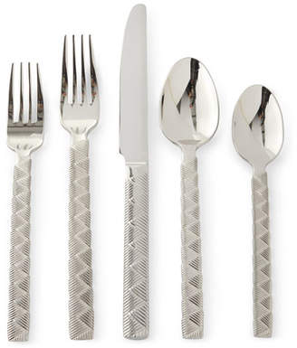 Ralph Lauren Home 5-Piece Cairo Flatware Place Setting, Steel