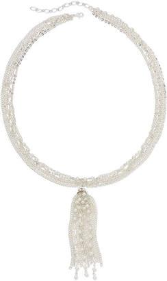 VIESTE ROSA Vieste Simulated Pearl and Tassel Multi-Chain Necklace