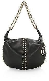 Christian Louboutin Women's Elixira Studded Leather Hobo Bag