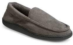 Black Brown 1826 Perforated Moccasin Slippers