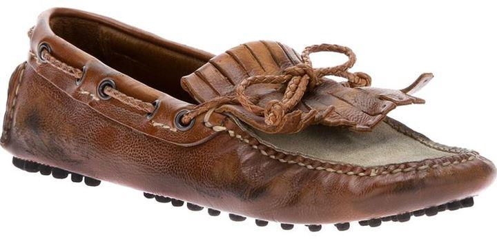 Car Shoe two tone mocassin
