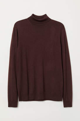 H&M Merino Wool Turtleneck Sweater - Red