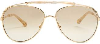 Reece aviator-frame sunglasses