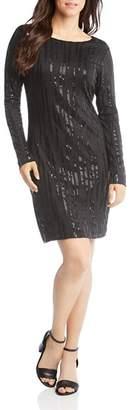 Karen Kane Long-Sleeve Sequined Dress