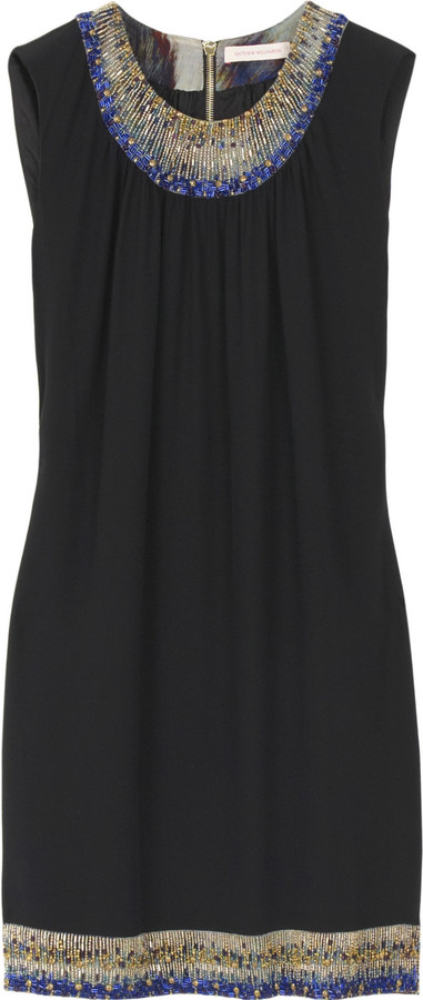 Matthew Williamson Beaded silk chiffon dress