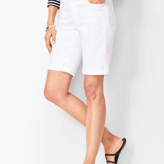 Talbots Girlfriend Jean Shorts - White