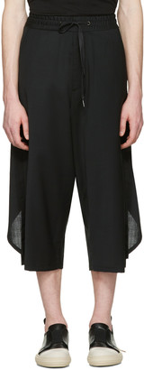 D.Gnak by Kang.D Black Overlapped Back Trousers $380 thestylecure.com
