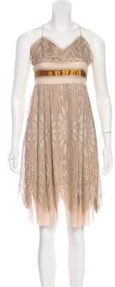 Anna Sui Metallic Lace Dress