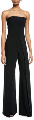 Alexis Carice Strapless Flared-Leg Crepe Jumpsuit