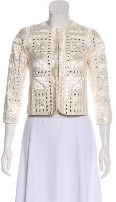 Alice + Olivia Embellished Long Sleeve Blazer