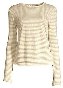 Frame Women's Shirred Bell Sleeve Linen Tee