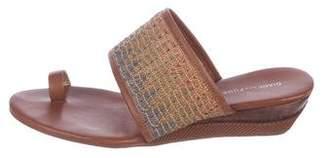 Diane von Furstenberg Woven Leather Slide Sandals