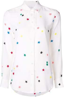Equipment Essential Star-print Silk Crepe De Chine Shir