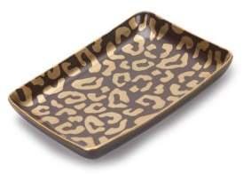 L'OBJET Dipped 24K Gold-Trimmed Porcelain Rectangular Tray