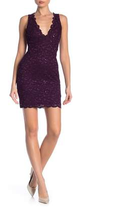 Jump Racerback Glitter Sequin Lace Dress