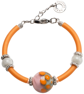 Antica Murrina Papaya 2 Orange Bracelet w/Pastel Murano Glass Beads $55 thestylecure.com