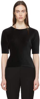 Pleats Please Issey Miyake Black Pleated T-Shirt