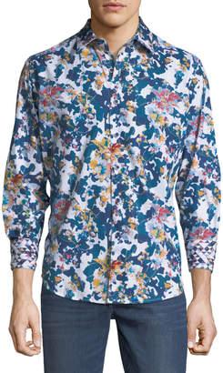 Robert Graham Classic-Fit Paril Creek Floral & Camo Sport Shirt