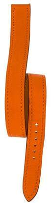 Hermes 14mm Double Tour Leather Watch Strap