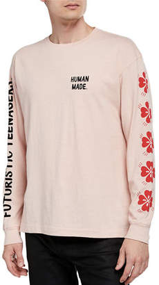 HUMAN MADE Men's Typographic Long-Sleeve T-Shirt