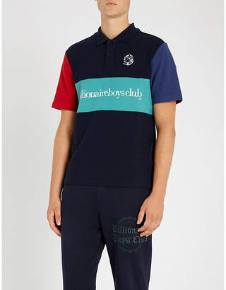 Billionaire Boys Club Colourblocked cotton polo shirt