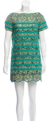 Sacai Luck Lace Mini Dress Green Luck Lace Mini Dress