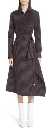 Rosetta Getty Poplin Wrap Shirtdress