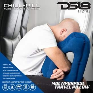 ds18 Inflatable Travel Pillow, DS18 Airplane Pillow,ergonomic portable travel pillow, fit travel pillow, plane pillow, train, bus, office, travel pillow,Soft Flight Sleep Pillow Nap Pillow, Blue
