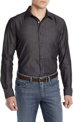 Brioni Men's Washed Chambray Sport Shirt