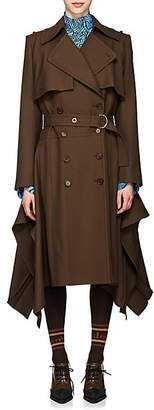 Chloé Women's Wool Asymmetric Trench Coat - Dk. brown