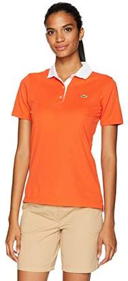 Lacoste Women's Short Sleeve Technical Waffle Knit Polo