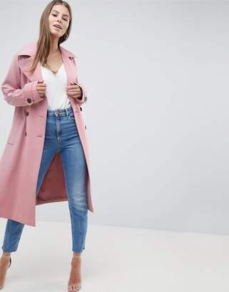 Asos Design DESIGN Double Breasted Soft Formal Coat