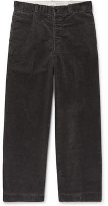 Chimala Wide-Leg Checked Cotton-Corduroy Trousers