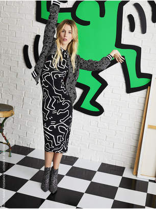 Alice + Olivia KEITH HARING X AO DELORA DRESS