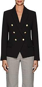 L'Agence Women's Kenzie Crepe Double-Breasted Blazer - Black