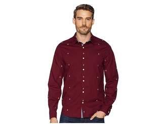 Nautica Long Sleeve Multicolor Anchor Print Woven Shirt