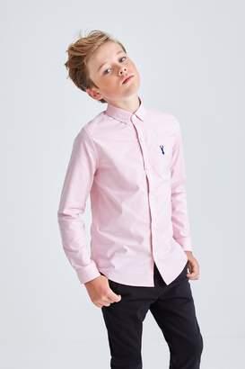 Next Boys Pink Long Sleeve Oxford Shirt (3-16yrs) - Pink