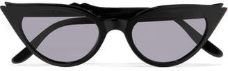 Illesteva Isabella Cat-eye Acetate Sunglasses - Black
