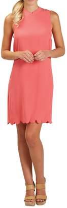 Mud Pie Coral Scallop Dress $52.95 thestylecure.com