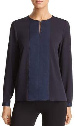 BOSS Baressa Grosgrain-Trim Top