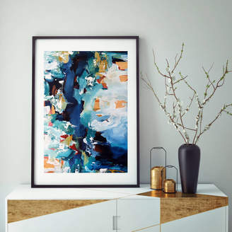 Abstract House Modern Framed Abstract Art Print