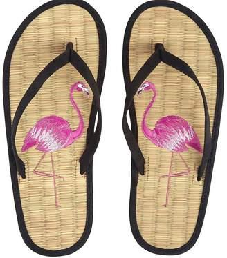 Accessorize Flirty Flamingo Seagrass Flip Flop Sandal