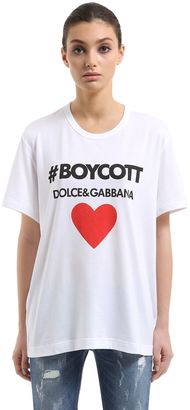 Boycott Printed Cotton Jersey T-Shirt $245 thestylecure.com