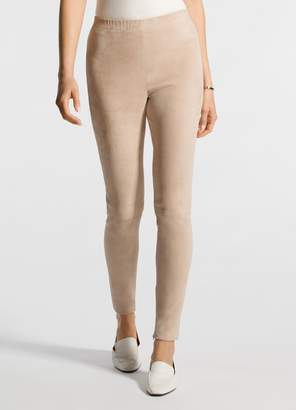 St. John Stretch Suede Cropped Legging
